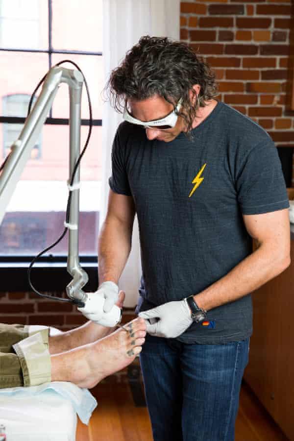 Dr Garrett Vangelisti at the Untattoo Parlor, Portland.
