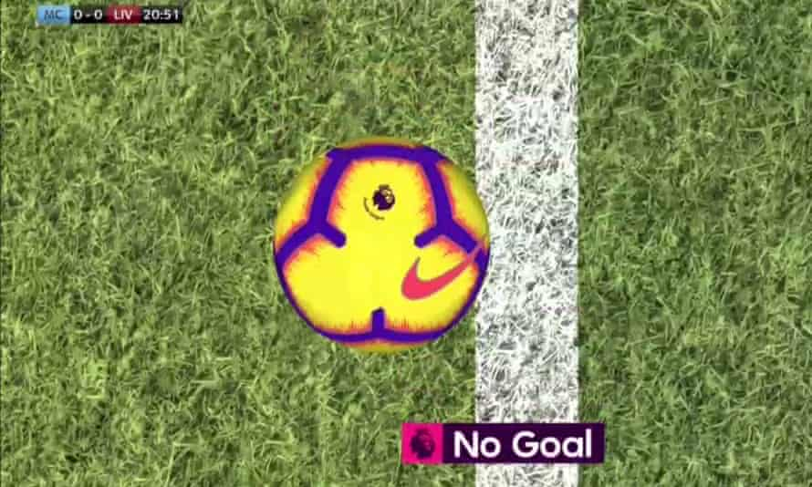 Manchester City v Liverpool.  January 3, 2019. John Stones clears the ball off the line.