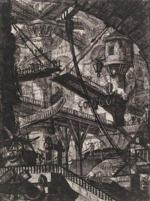 The Drawbridge (Plate VII of the Second Edition, Second Issue, of the Carceri), 1761, by Giovanni Battista Piranesi