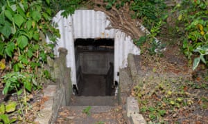 Martin Stanley's Anderson shelter.