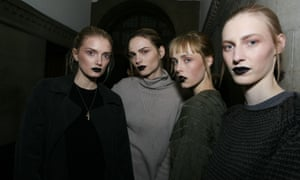 Models at the Giles autumn/winter show.
