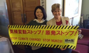 Senator Milne with a representative of the Japanese Greens, concerned about nuclear power
