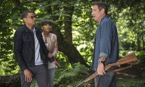 Michael Ealy, Meagan Good and Dennis Quaid in The Intruder