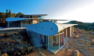 The sky's the limit … the Boeing 747 home, designed by architect David Hertz, in the Santa Monica mountains.