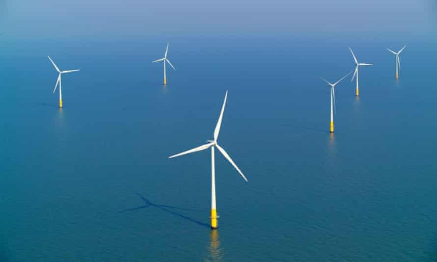 The Kentish Flats wind farm in Kent