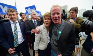 Mullan with the SNP's Nicola Sturgeon during the independence campaign.