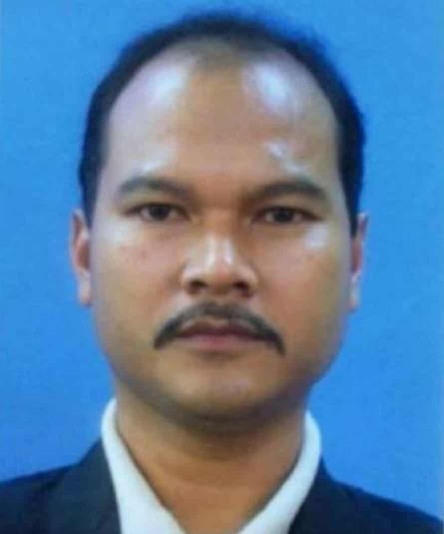 Former Malaysian police commando Sirul Azhar Umar, who was sentenced to death in absentia in his country for the murder of Altantuya Shaariibuu.