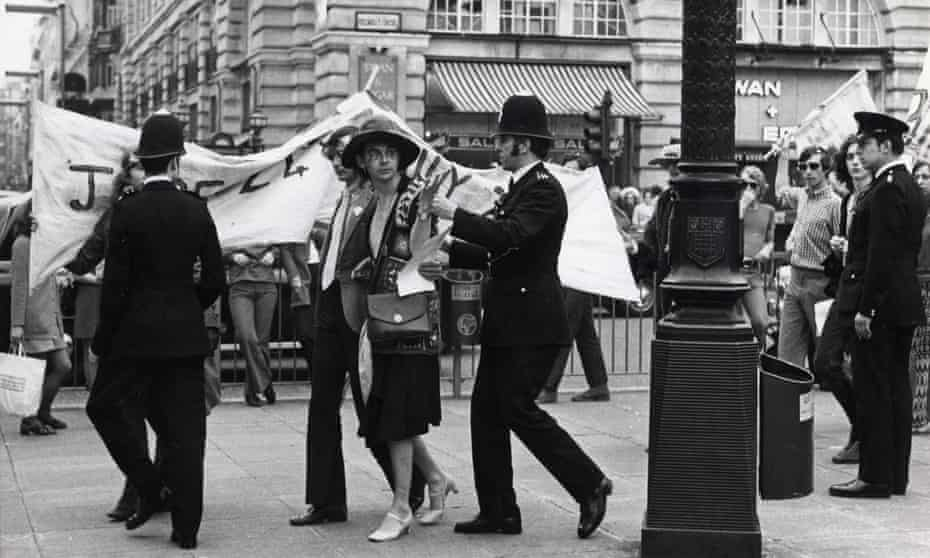 A Gay Liberation Front demonstration in London in 1972.
