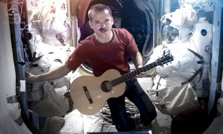 Canadian Chris Hadfield performing performs hisversion of David Bowie's Space Oddity in 2013.