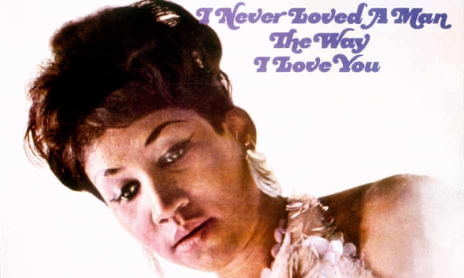 The album cover for I Never Loved A Man The Way I Loved You, released in 1967 by Atlantic Records.