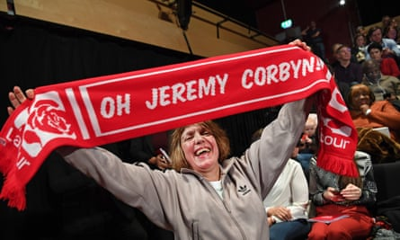 A Jeremy Corbyn supporter at a Labour event in London last year.