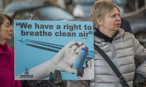 Local groups protest against Heathrow runways plans in Richmond, London