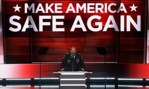 Sheriff David Clarke Jr was one of the few black speaker at last year's Republican national convention in Cleveland, despite being elected as a Democrat.