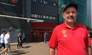 Peter Bolton, 61, has been travelling around the world to attend Manchester United matches.