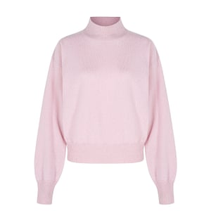 Pink cashmere polo neck, £100, aligne.co.