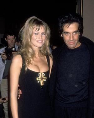 Copperfield con su ex novia Claudia Schiffer