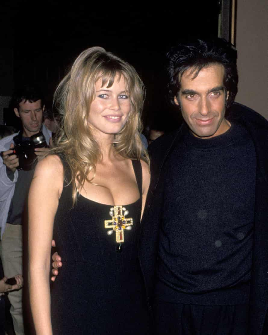 Copperfield with former girlfriend Claudia Schiffer