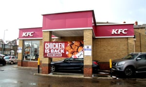 KFC's chicken sales account for only 4% of the UK total, with supermarkets processing most sales.