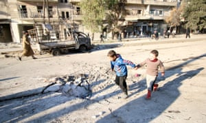 The Syrian city of Aleppo has been pounded in a Russian-backed assault.
