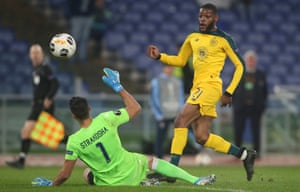 Olivier Ntcham scores Celtic's winning goal at Lazio in the team's most impressive victory of the group stage.