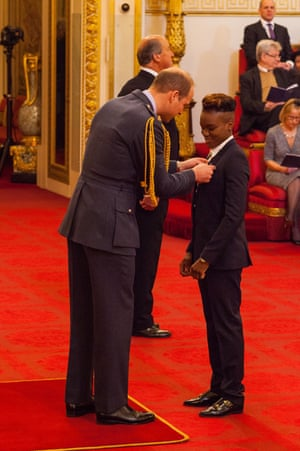 Nicola Adams from Leeds is made an OBE (Officer of the Order of the British Empire) by the Duke of Cambridge at Buckingham Palace.