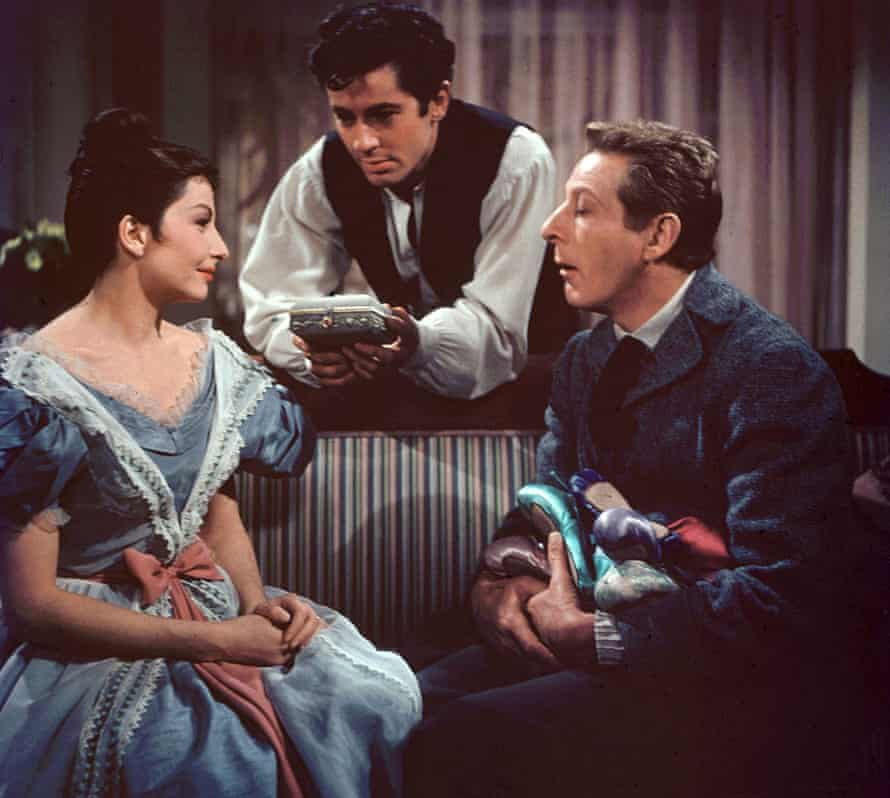 Zizi Jeanmaire with Farley Granger, centre, and Danny Kaye in the film Hans Christian Andersen, 1952.
