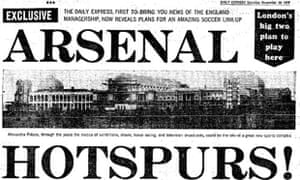 Daily Express reports the proposed ground-sharing betweeen Tottenham and Arsenal