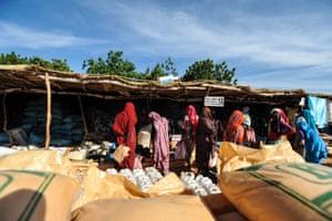 Darfur refugees at Djabal camp in Goz Beïda, eastern Chad.