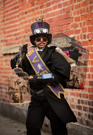 Christopher Simpson, a steampunk rat catcher from Chesterfield, says he got into the genre about four years ago