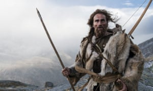 Jurgen Vogel in the film Iceman, the story of Ötzi's struggle for survival.