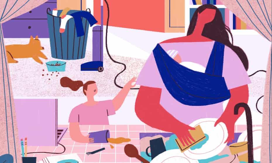 Illustration for Women in lockdown