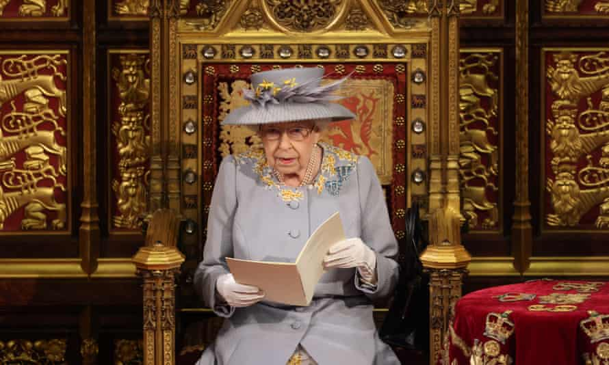 The Queen delivers the speech in the House of Lord's during the state opening of parliament.