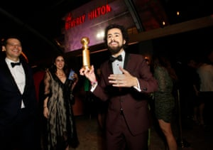 Ramy Youssef, Golden Globe winner for best performance by an actor in a television series – musical or comedy, at the Walt Disney party