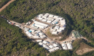 "The detention centre in the middle of the island known as ""Topside"". The Nauruan government announced on Friday that asylum seekers would be free to come and go from the detention centres and move around the island."