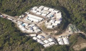 Aerial view of an Australian-run detention centre on Nauru.