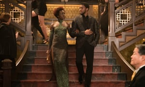 Lupita Nyong'o and Chadwick Boseman in Black Panther, which has so far earned more than $1.2bn worldwide.