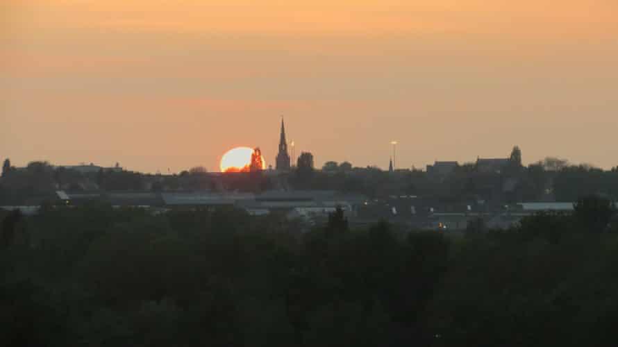 Sunset seen from Bilston.