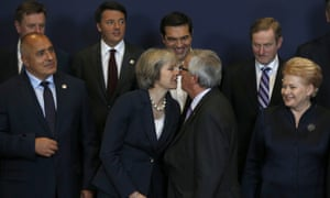 May at EU council meeting