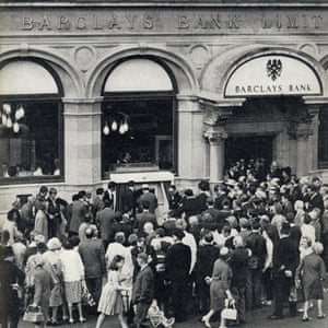 Official opening of first ATM in 1967.