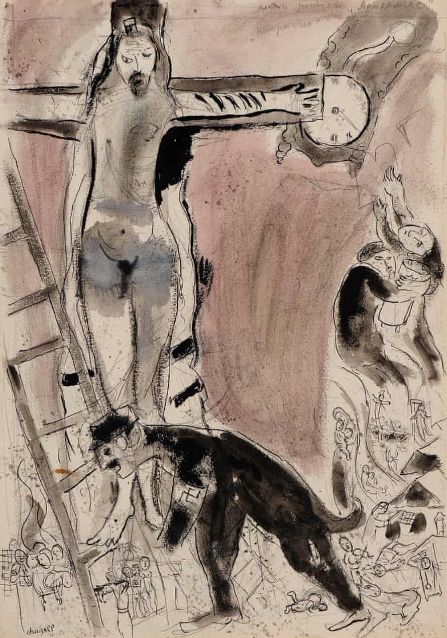 Apocalypse en Lilas, Capriccio, 1945 by Marc Chagall.