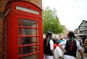 Picturesque Evesham in the Cotswolds is a natural location for Morris dancers.
