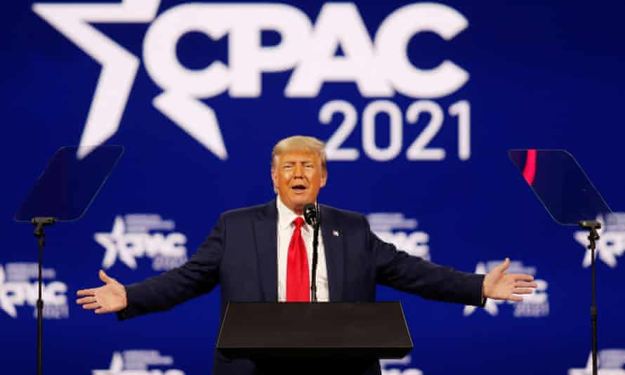 Donald Trump speaks at the Conservative Political Action Conference in Orlando, Florida.