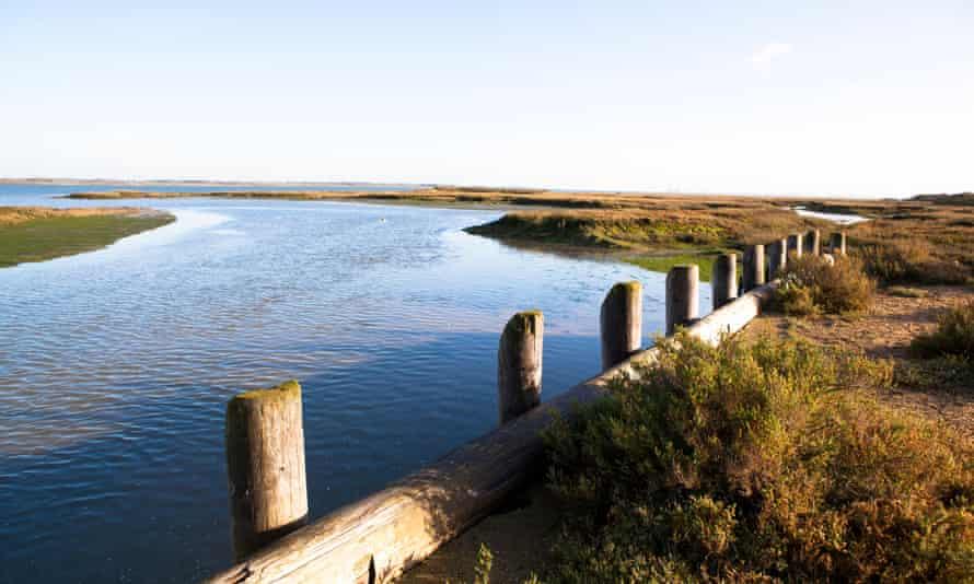 The estuary of Osea Island, Essex.