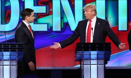 Senator Marco Rubio and Donald Trump