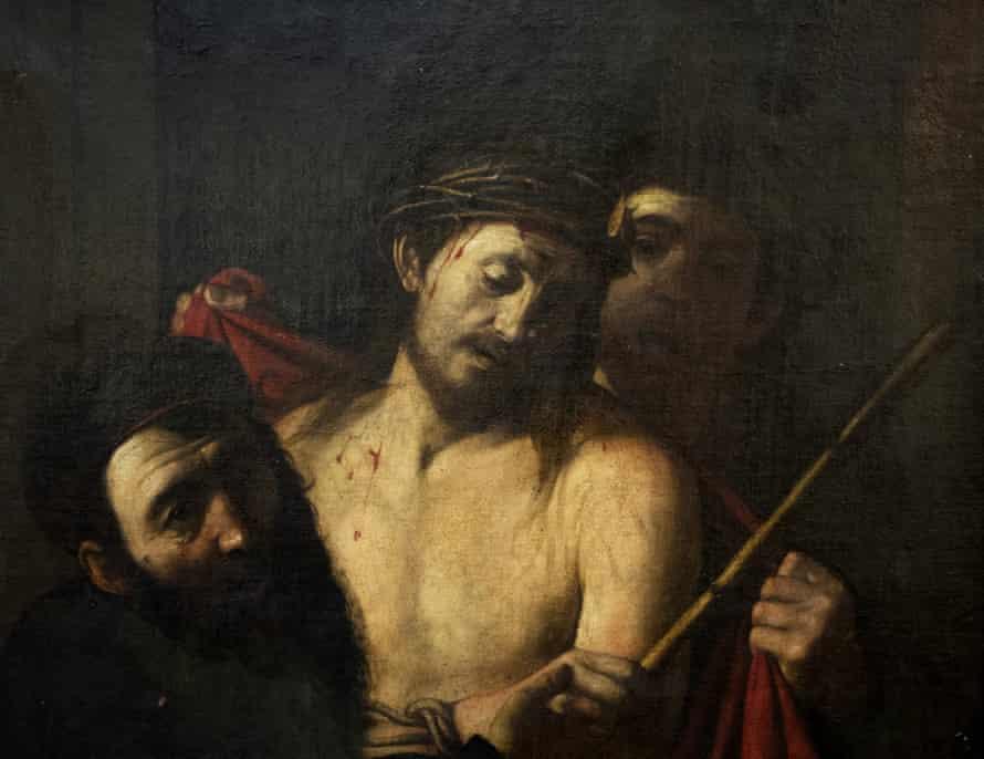 Caravaggio painting on Christ