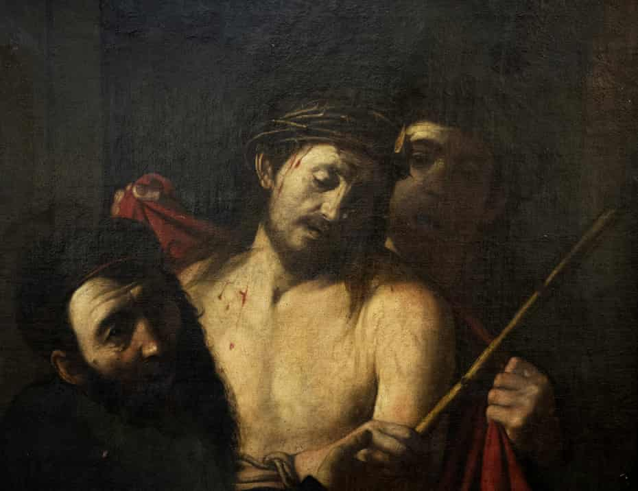 The 17th-century oil on canvas Crowning of Thorns, originally attributed to José de Ribera's circle.