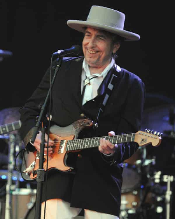 Dylan performs at the Vieilles Charrues music festival in Carhaix-Plouguer, France, 2012.