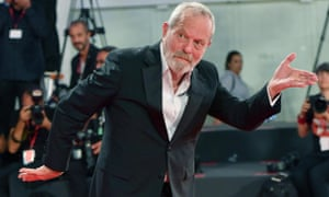 Terry Gilliam arrives for the premiere of The Laundromat at the Venice film festival