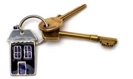 House keys on a key ring