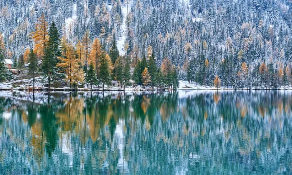 Champex-Lac, Switzerland, in winter.